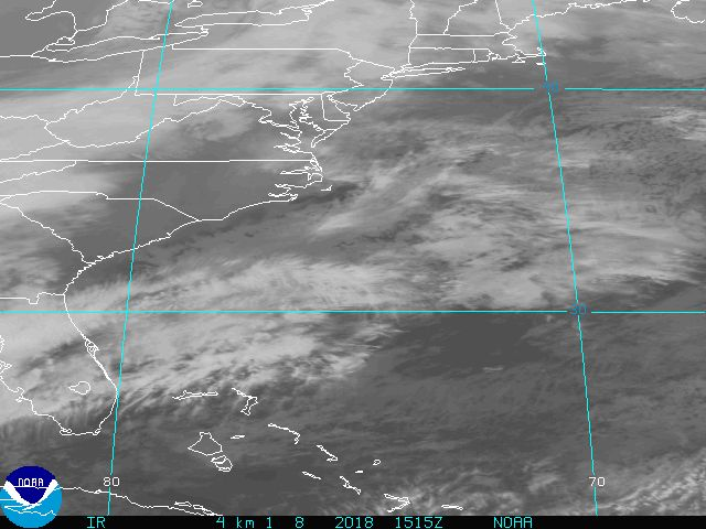 East Coast IR image from GOES
