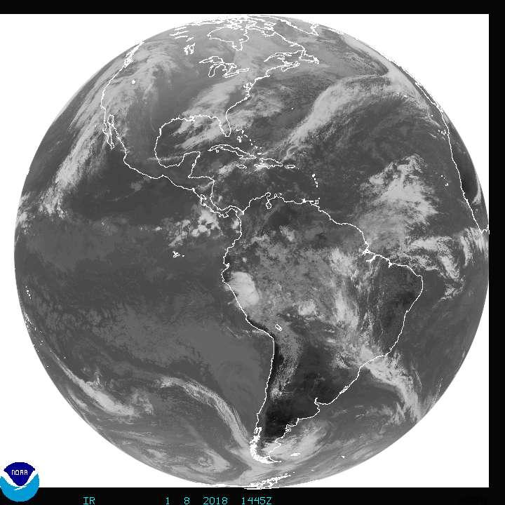 NOAA Satellite image Atlantic and Pacific hurricanes