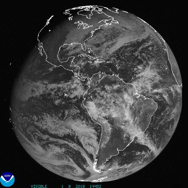 Current Full disk GOES East Visible image