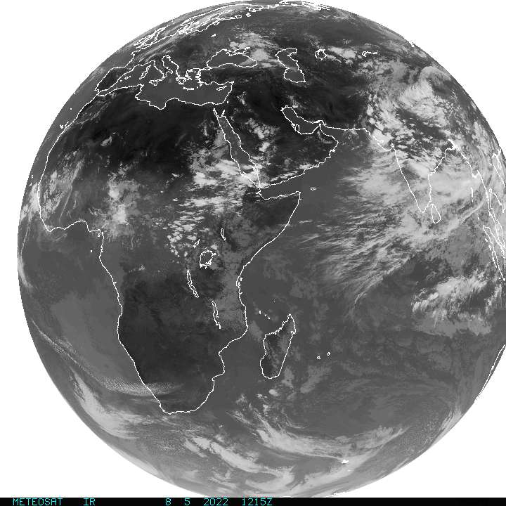 Current Full Disk METEOSAT-INDOEX Infrared Image