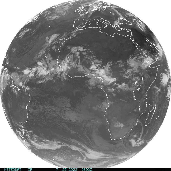 Current Full Disk METEOSAT Infrared Image