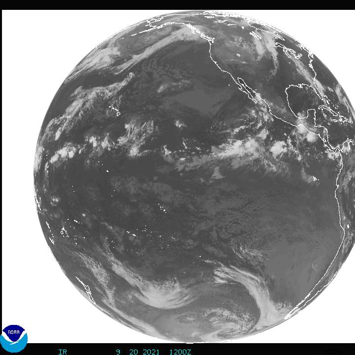 Current Full disk GOES West Infrared image