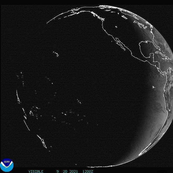 Current Full disk GOES West Visible image