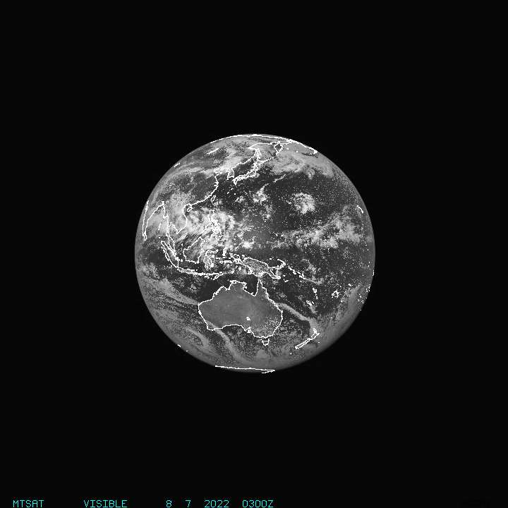Current Full Disk MTSAT Visible Image