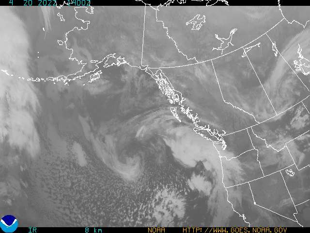 Western Canada Infrared Satellite