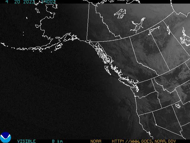 GOES West Alaska Visible image