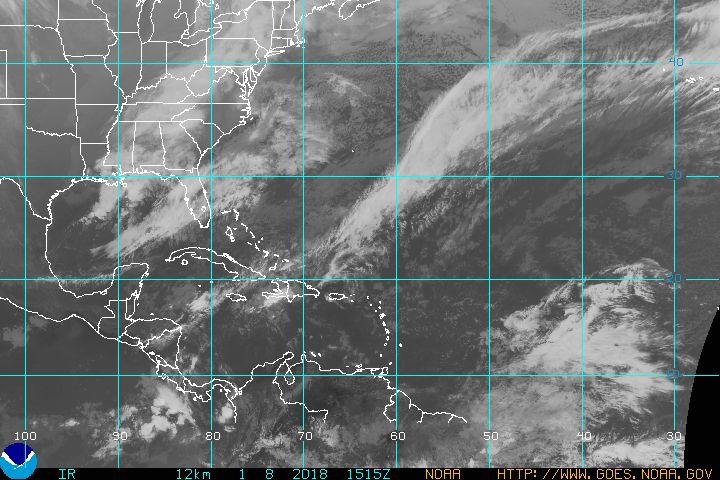 GOES Atlantic Tropical Infrared