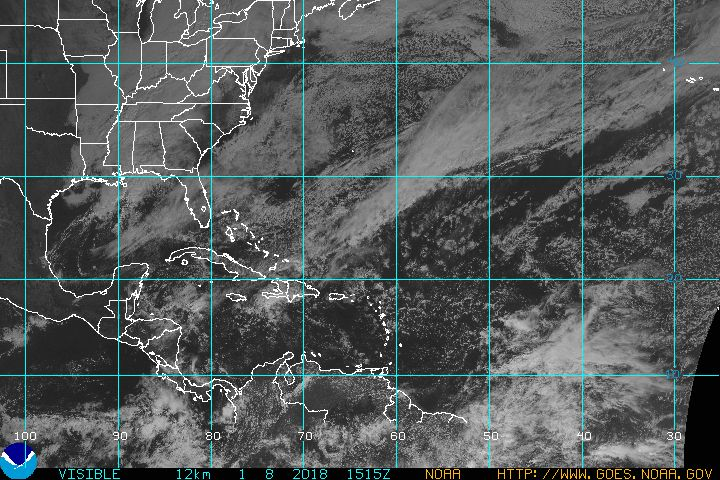 GOES Atlantic Basin Visible Satellite Image