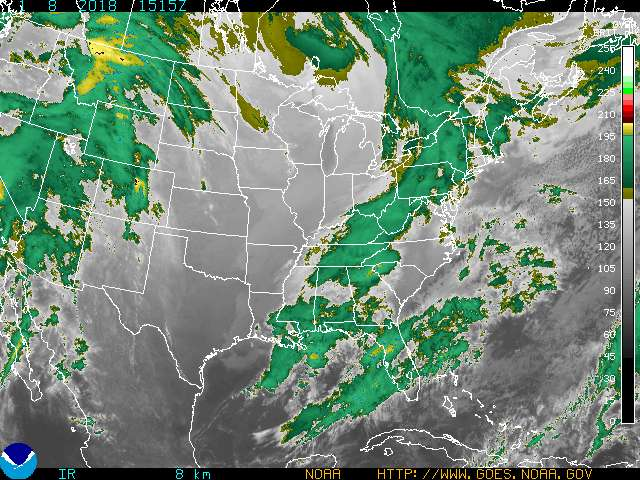 Current GOES Eastern US SECTOR Infrared Image