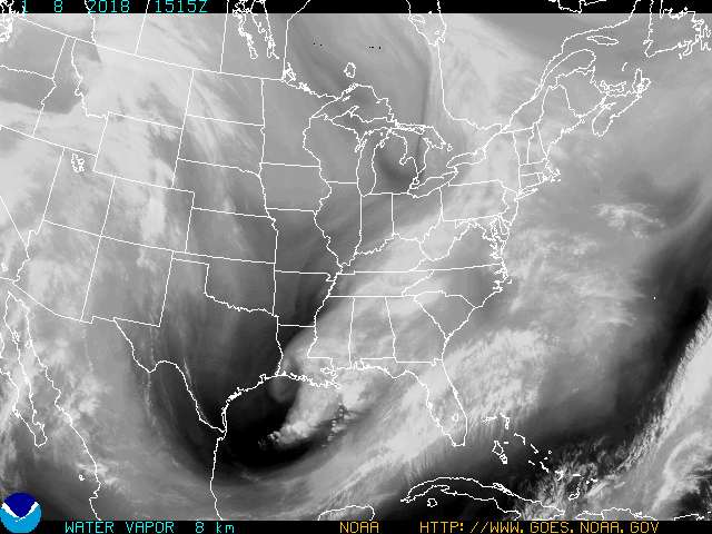 Current GOES Satellite Water Vapor Image