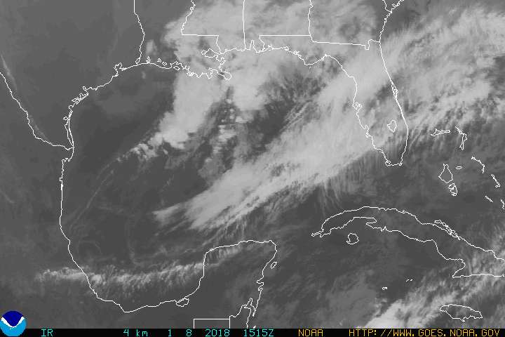 GOES East Gulf of Mexico IR image