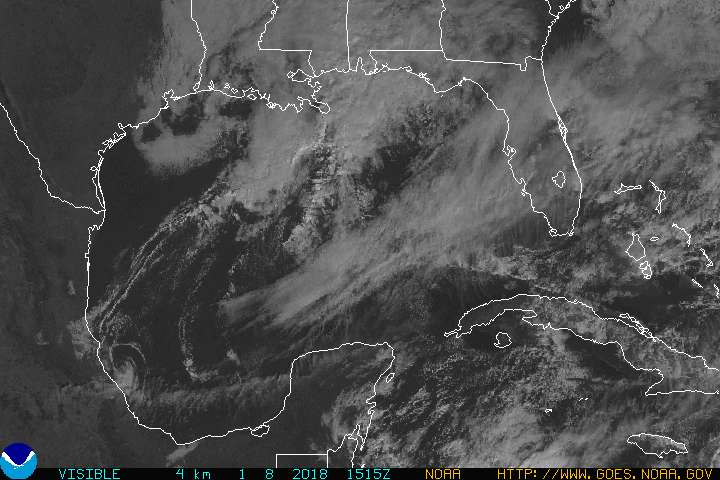 Gulf of Mexico Visible Satellite Image