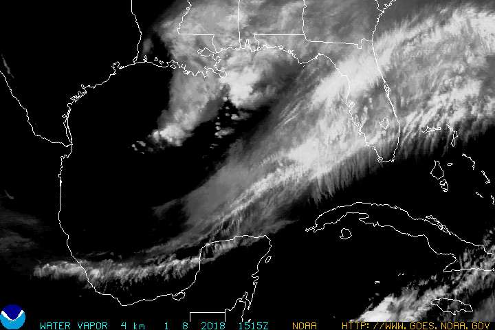 GOES East Gulf of Mexico WV image