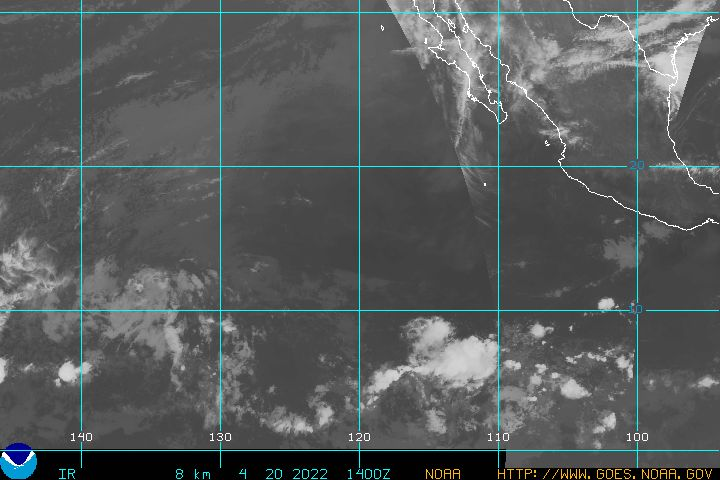 Hurricane path IR about 100K
