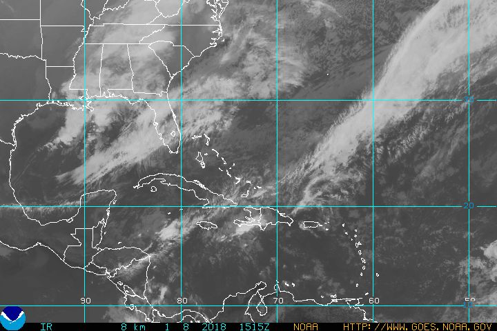 Current atlantic hurricane sector satellite photo Visible Image