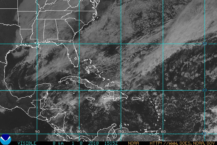 latest goes east hurricane sector visible image