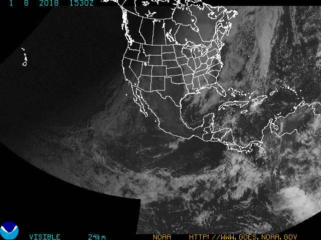 GOES Northern Hemisphere Composite Visible Image