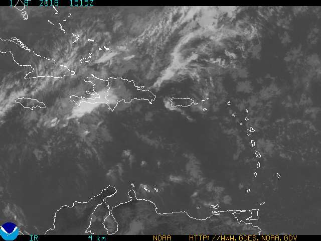 Puerto Rico & US Virgin Islands IR Satellite