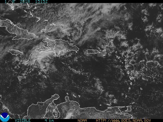 Puerto Rico & US Virgin Islands VIS Satellite