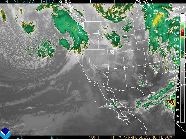 Western US Satellite Image- IR Channel4