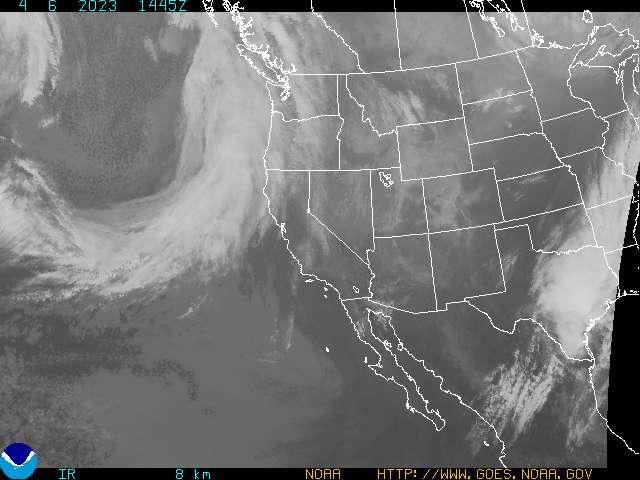Satellite image - infrared