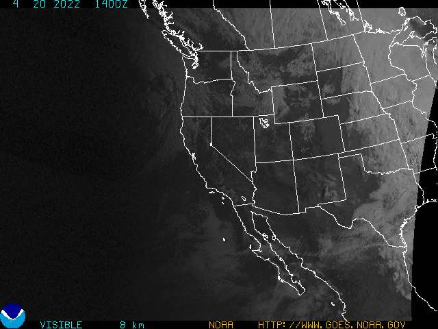 GOES Western U.S. Visible Image