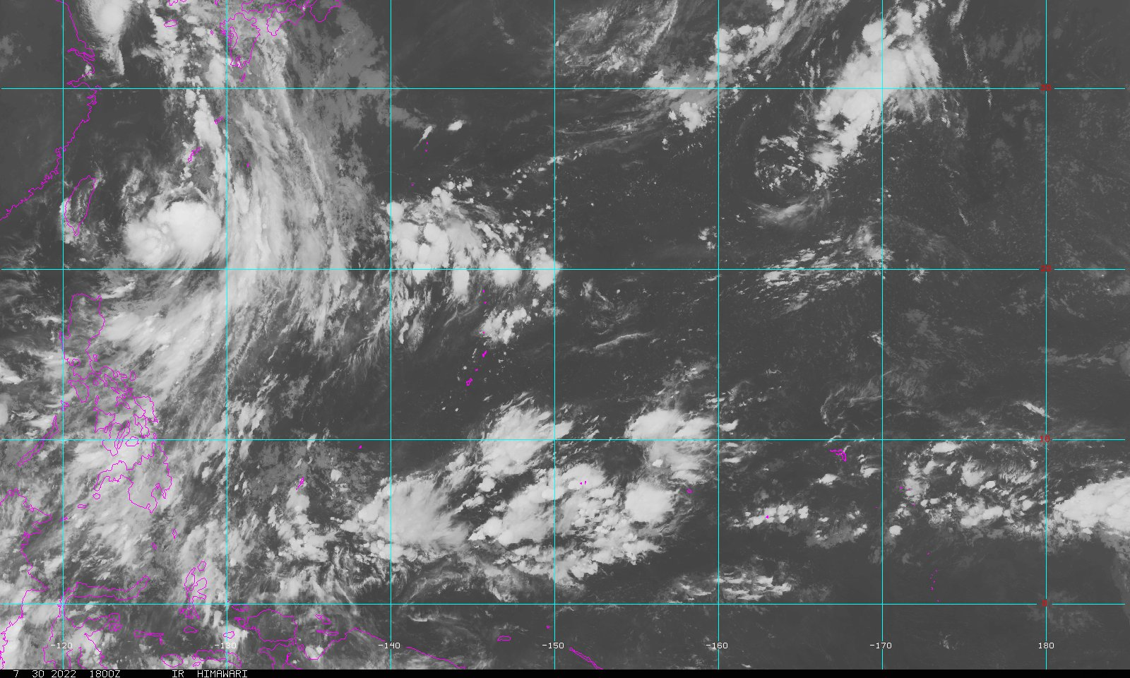 Guam Infrared Loop - NOAA GOES Geostationary Satellite Server