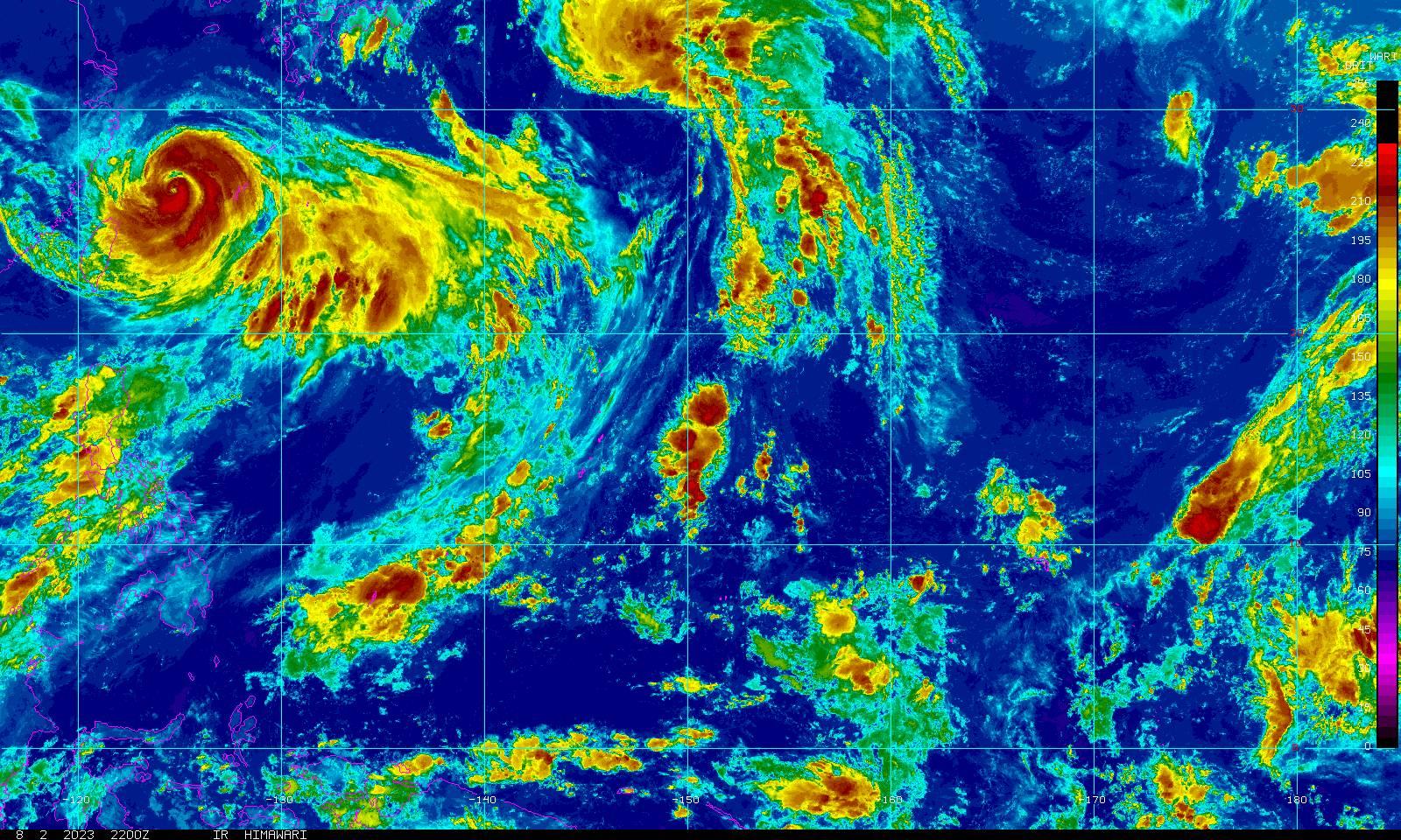 guam infrared color loop noaa goes geostationary satellite server