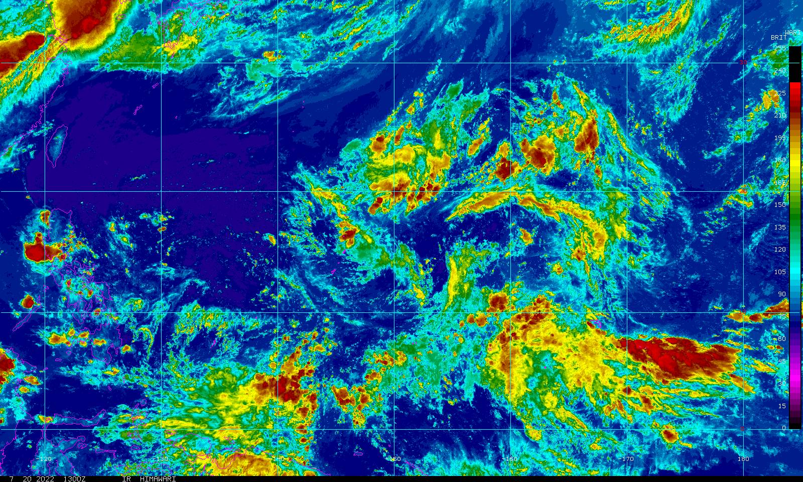 Guam Infrared Color Loop - NOAA GOES Geostationary Satellite