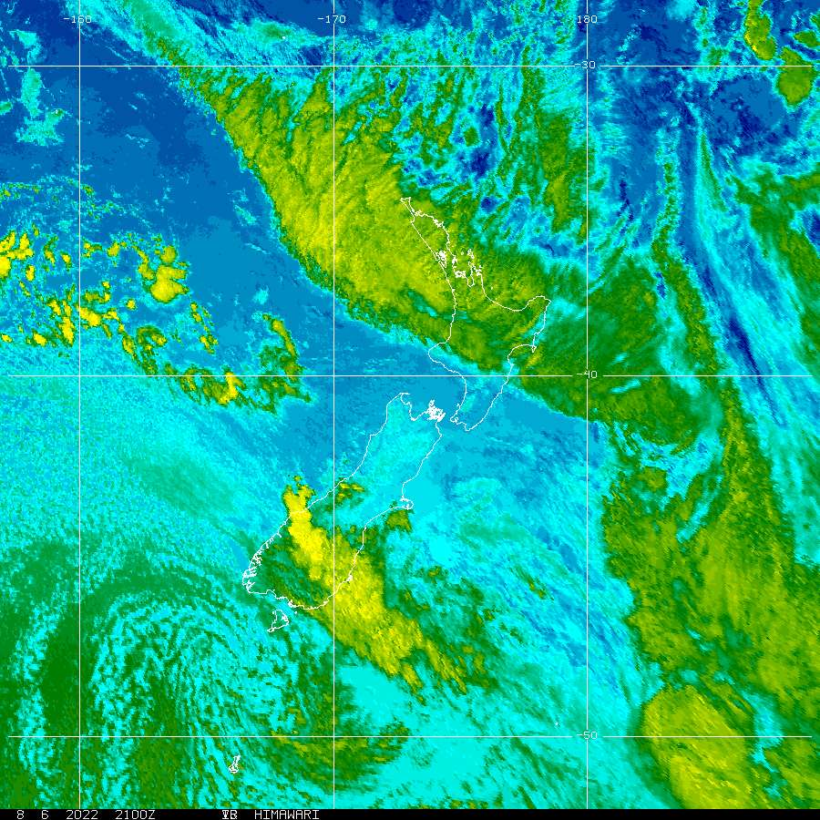 New Zealand IR Satellite Image