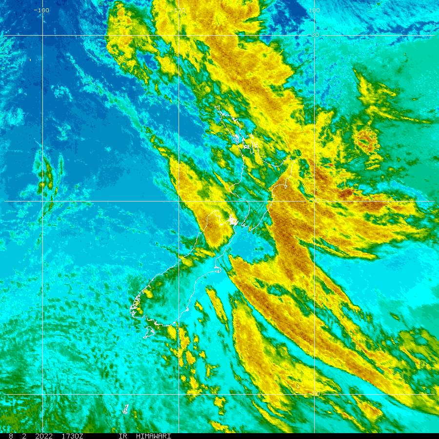 NZ Infrared Himiwari-8 image